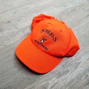 Vintage Scheels Hunting Hat. Amazing Blaze Orange!